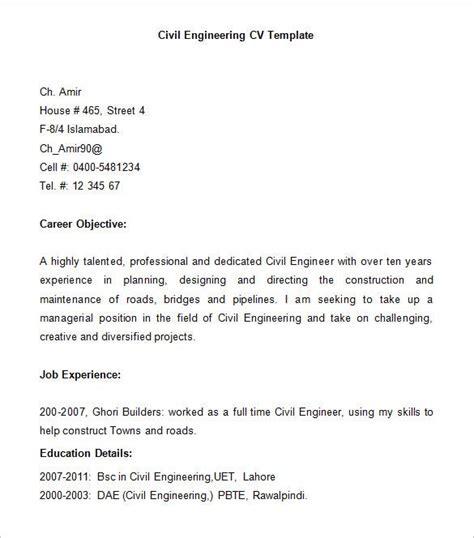 civil engineer resume templates