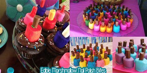Edible Marshmallow Nail Polish Bites