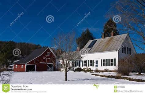 england farm house barn stock image image  real winter
