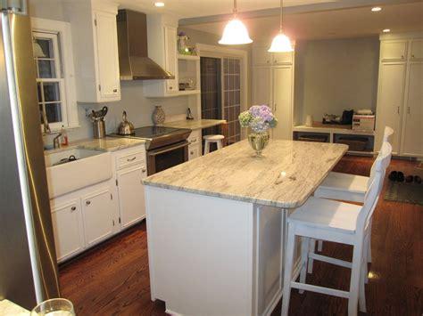 white cabinets  granite countertops diy kitchen