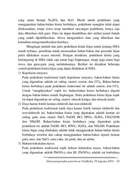 Orasi Pengenalan Guru Besar I Wayan Redhana Undiksha
