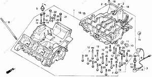 Honda Motorcycle 1989 Oem Parts Diagram For Crankcase