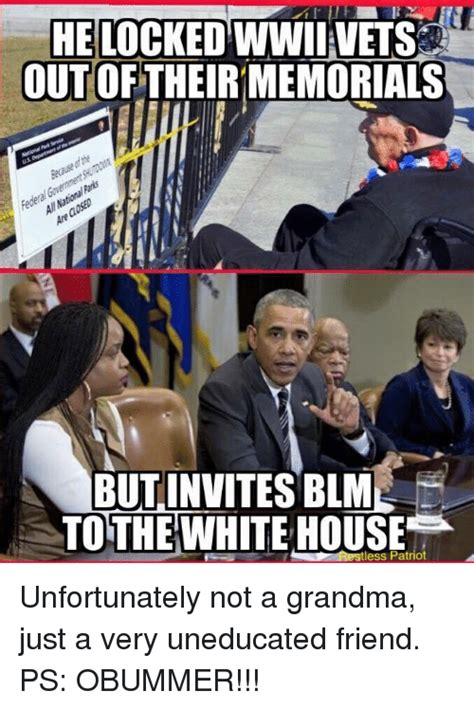 Blm Memes - he locked wwii vets out of memorials but invites blm to the white house tless patriot