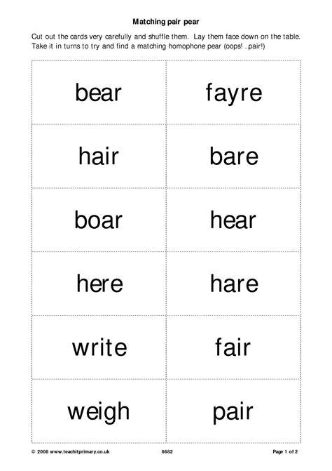 eyfs ks1 ks2 homophones teachit primary