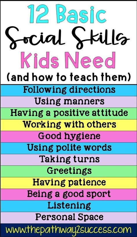 basic social skills kids  social skills lessons