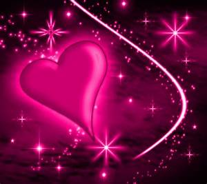 Pink Heart With Plasma Stars Background 1800x1600 ...
