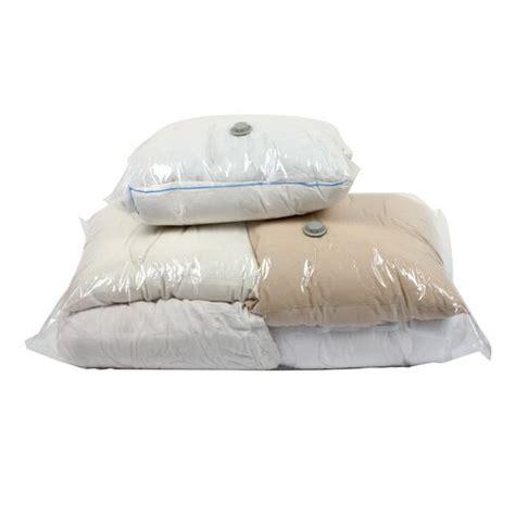 lot linge de maison lot de 2 sacs de rangement sous vide linge de lit eminza