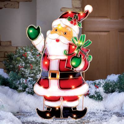 outdoor light up santa light up santa outdoor christmas decoration from