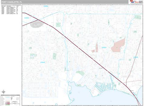 Port Charlotte Florida Wall Map (premium Style) By Marketmaps