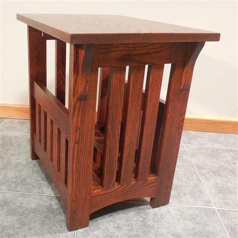 oak magazine rack solid oak mission magazine rack end table 16 quot x 22