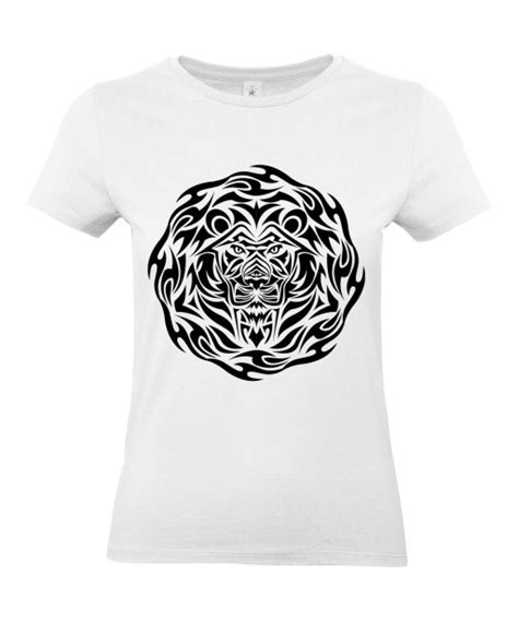shirt femme tattoo tribal design lion tatouage animaux