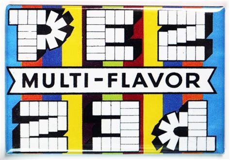 pez wrapper fridge magnet vintage style candy shop ad