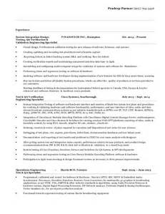 Mobile Testing Resume by Cisco Test Engineer Sle Resume 22 Mobile Test Engineer