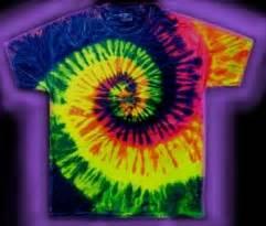 Fluorescent Neon tie dye T shirts