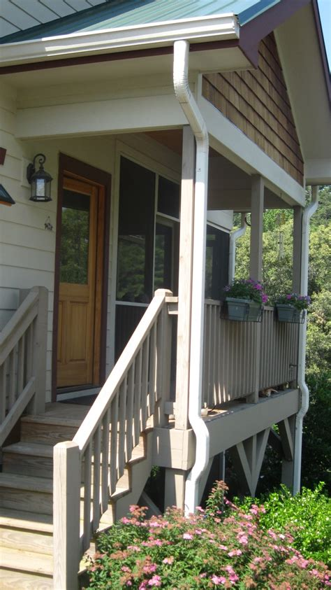 images  deck porch railing  pinterest