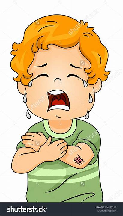 Clipart Wound Hurt Kid Scrape Elbow Crying