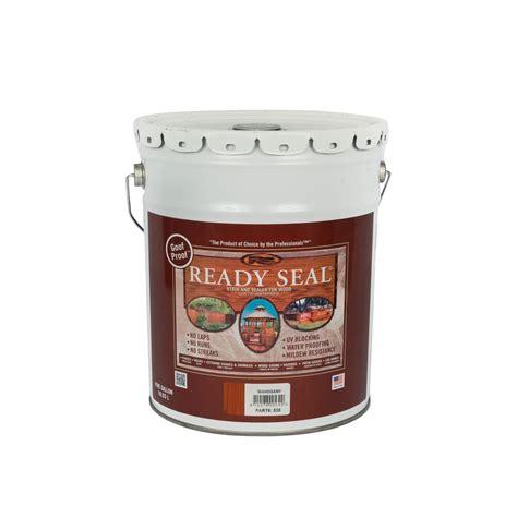 ready seal  gal mahogany exterior wood stain  sealer