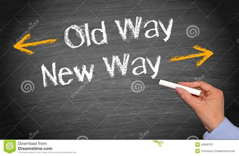 Old Way, New Way Stock Photo  Image 43846761