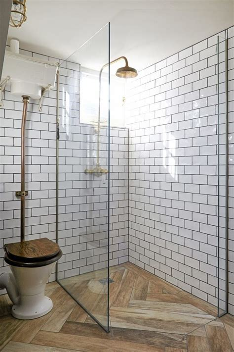 ideas  wood tile shower  pinterest rustic