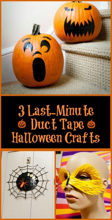 Three Lastminute Halloween Duct Tape Projects Your Kids