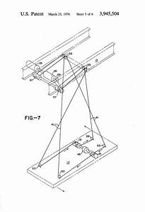 Patent Us3945504 - Anti-sway System For A Spreader Suspended From A Crane