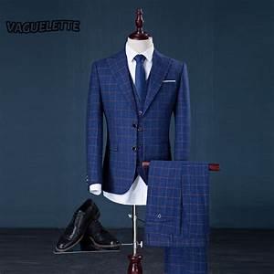 blazerpantsvest tweed plaid suit mens classic vintage With costume à carreaux homme