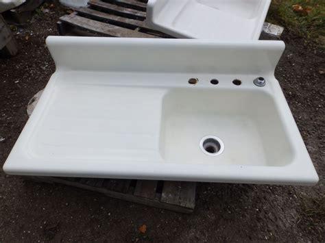 porcelain kitchen sink with drainboard antique cast iron porcelain 42 quot kitchen farm sink