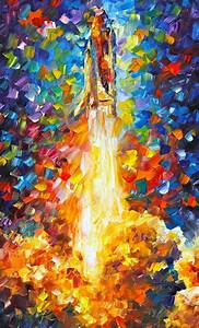 Shuttle Discovery Painting by Leonid Afremov