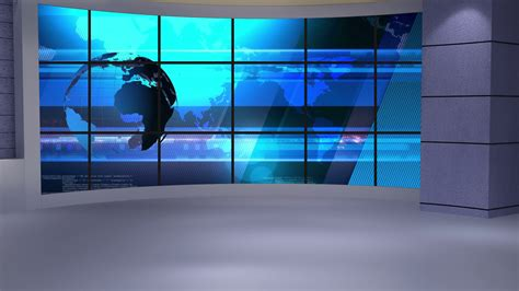 tv green screen template white news tv studio set 234 virtual green screen background