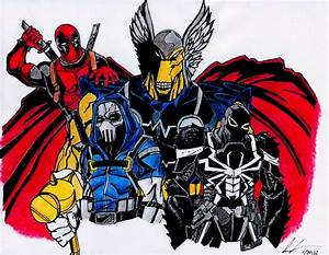 Deadpool,Taskmaster,BetaRayBill,Agent Venom Color by THE ...