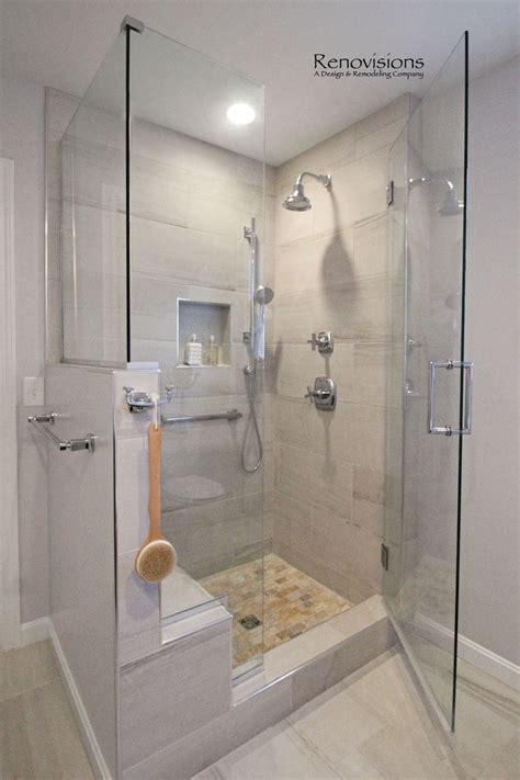 completed master bathroom remodel  renovisions walk