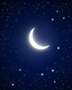 Night Time Moon and Stars