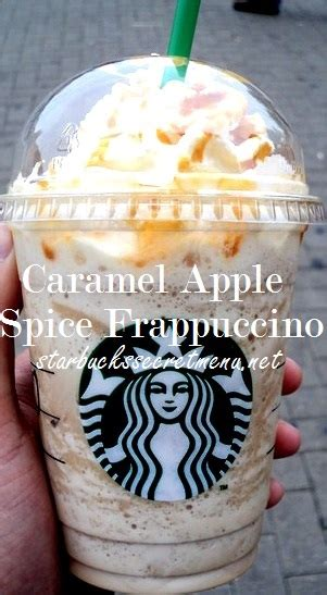 starbucks caramel apple spice frappuccino starbucks