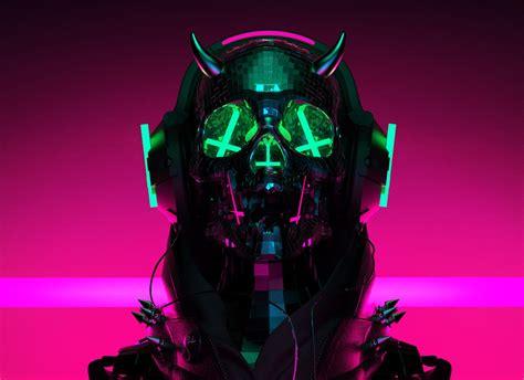 auiis  behance wallz   cyberpunk art