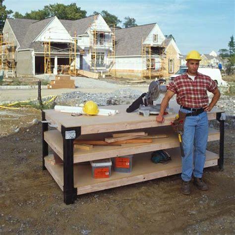 woodwork jobsite work table plans  plans
