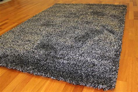 vloerkleed shaggy deluxe hoogpolig vloerkleed shaggy deluxe zwart zilver
