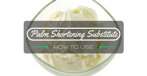 shortening substitutes know how to use a palm shortening substitute april 2018