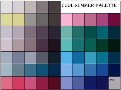 cool summer color palette category true summer is a many splendored thing