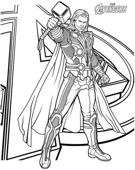 thor coloring pages    print