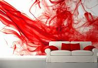 excellent abstract wall mural Red and white Bedroom wall murals | Homewallmurals.co.uk