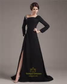 Off-the-shoulder SweepBrush Chiffon Evening Dress (4)