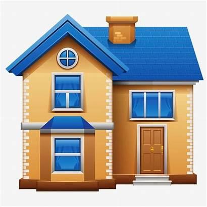 Clip Cartoon Houses Clipart Building Village Township