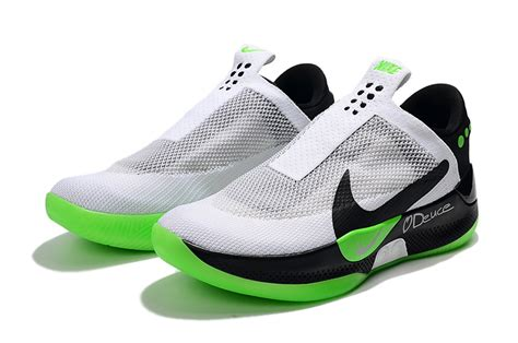 jayson tatum nike adapt bb white black volt green  sale