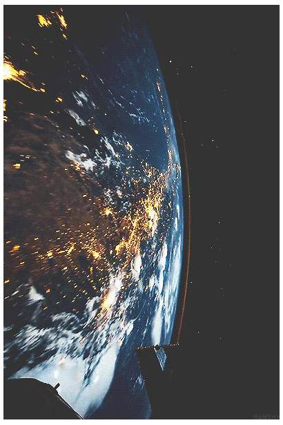 Earth Space Gifs Station Iss Rotation Pop