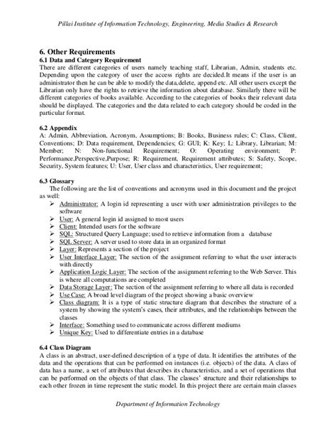 Software requirements specification of Library Management