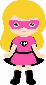 Girl, Superheroes, Clipart