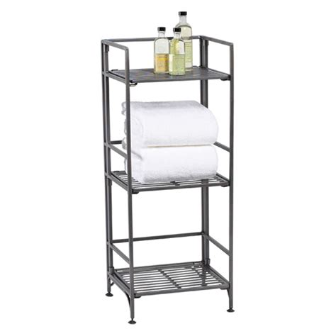 container store folding bookcase 3 shelf iron folding bookcase the container store