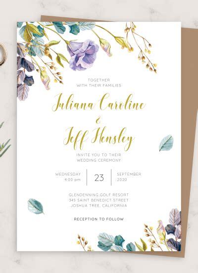 Download Printable Rustic Bloom Floral Wedding Invitation