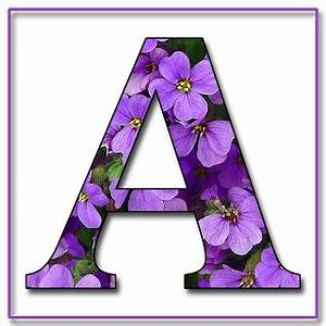 granny enchanted39s blog quotpurple flowersquot free scrapbook With purple alphabet letters