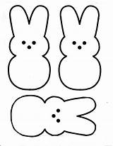 Easter Printable Bunny Coloring Pages Peeps Worksheets Printables sketch template